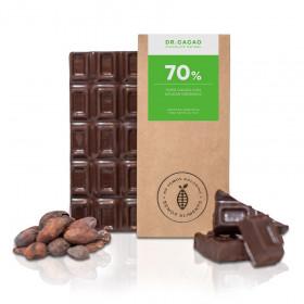 """Chocolate 70% c/ azúcar orgánica """"Dr. Cacao"""" x 70 grs"""