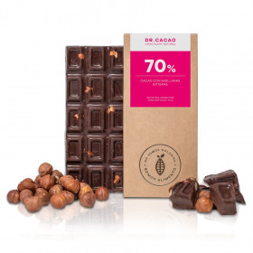 """Chocolate con Avellanas """"Dr. Cacao"""" x 70 grs"""
